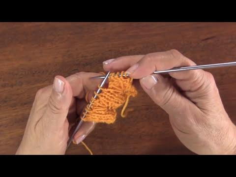 Punto elástico con punto hondos para tejer en dos agujas o palitos