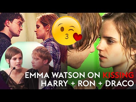 Emma Watson on kissing co-stars Grint and Radcliffe