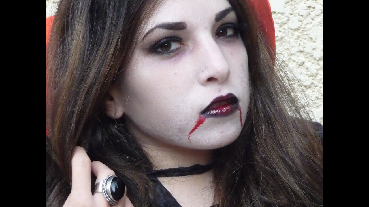 maquillage vampire simple fille