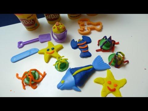 """Đồ Chơi Đất Nặn """"Play Doh"""" - Tạo hình Sinh Vật Biển Bằng Đất Sét (Bí Đỏ)"""