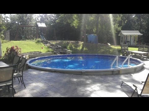 Dropping an Above Ground Pool in the Ground