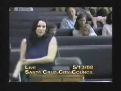 Idiotic Woman at Santa Cruz City Council