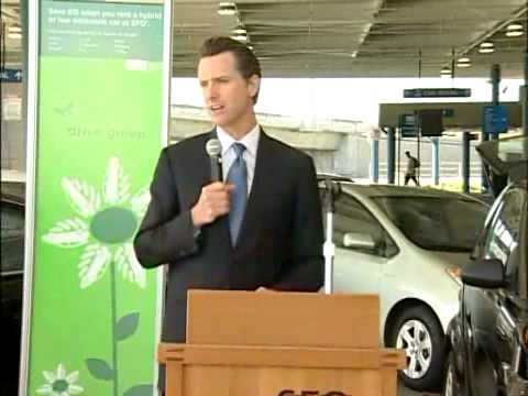 Mayor Newsom Launches Green Rental Car Incentive Program