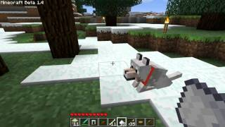 Minecraft Beta 1.4 Update Test Drive - It's a Wolf!