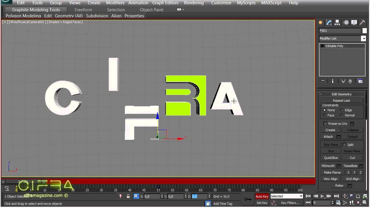 Анимация логотипа на основе параметра Visibility в 3ds max - YouTube