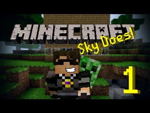 Sky Does Minecraft Episode 1 : Shelter