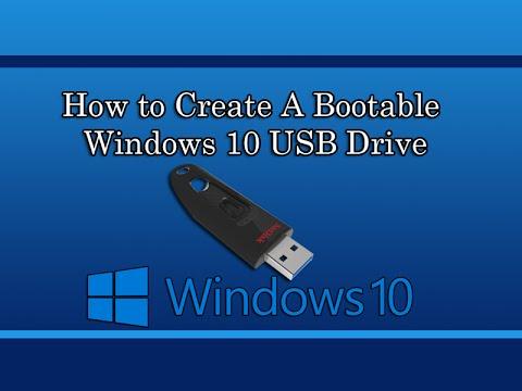 how to make bootable windows 10 usb
