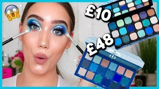 OMG! A £10 DUPE FOR JEFFREE STAR BLUE BLOOD? MAKEUP REVOLUTION ICE PALETTE | MAKEMEUPMISSA