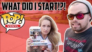 EPISODE 11 - I THINK SHES ADDICTED!! TOY HUNTING FOR MARVEL LEGENDS/BLACK SERIES/FUNKO POPS!!