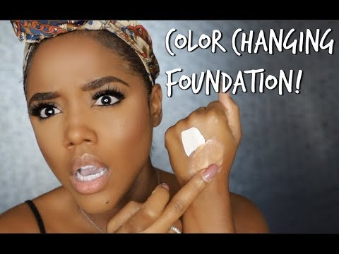 MAGIC Color Changing Foundation Review for Brown/Dark Skin   Ellarie