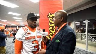 Artavis Scott Representing the National Champion Clemson Tigers at the 2017 Senior Bowl