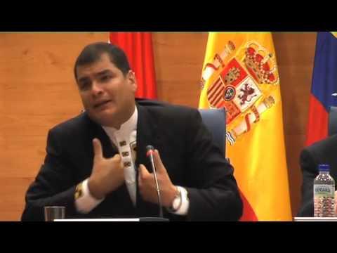12 May 2008 Rafael Correa en la Universidad Complutense de Madrid