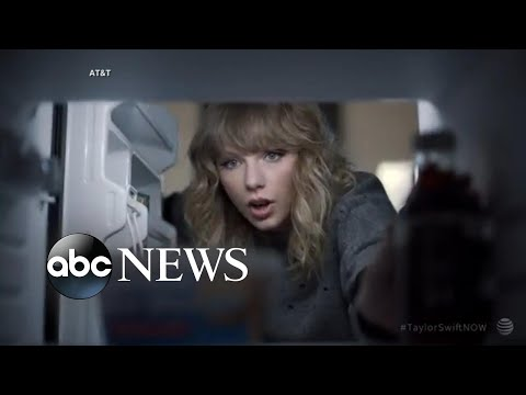 Behind-the-scenes look at Taylor Swift's commercial for AT&T