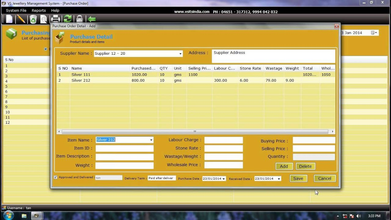 Jewellery shop management system in asp.net