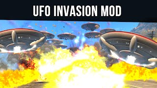 UFO INVASION MOD (Lasers, Explosions, Anti-Gravity!) | GTA 5 PC Mods