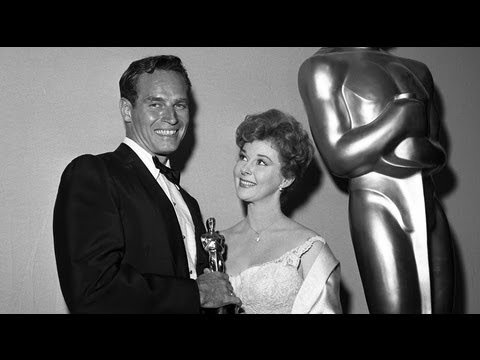 "Charlton Heston winning Best Actor for ""Ben-Hur"""