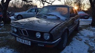 Starting 1982 BMW E28 520i After 3 Months (1080p)