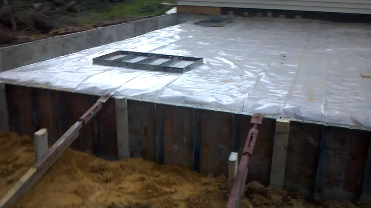 Turndown slab for garage youtube for Monolithic pour foundation