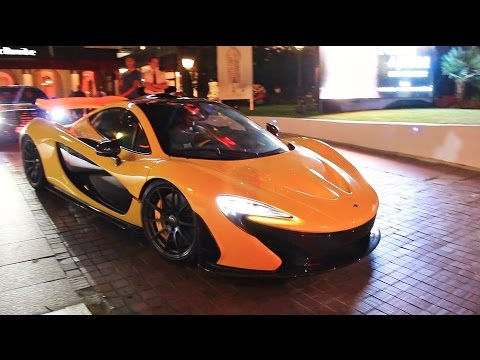 McLaren P1 Driving Sound in Cannes!