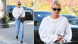 Sofia Richie Dresses Down For Upscale Holiday Shopping