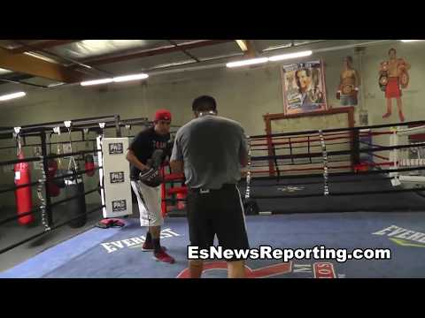 brandon rios vs manny pacquiao rios first day in camp - EsNews Boxing