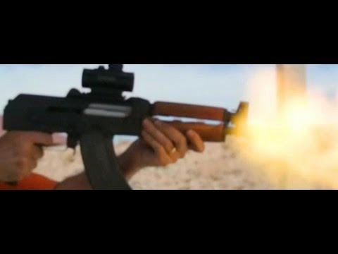 Zastava M92 PAP AK47 7.62 x 39 in Slow Motion