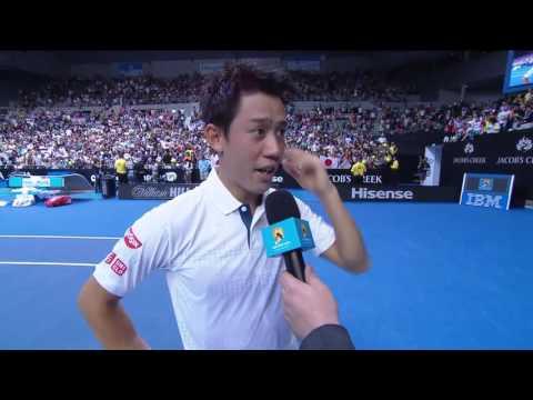 Kei Nishikori's on-court interview (4R) | Australian Open 2016