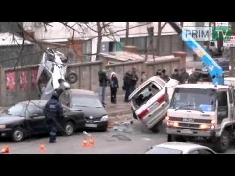 Большая автомобильная авария в Приморском крае