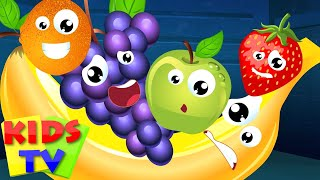 Kids TV Nursery Rhymes - Five Little Fruits Nursery Rhyme Song For Kids