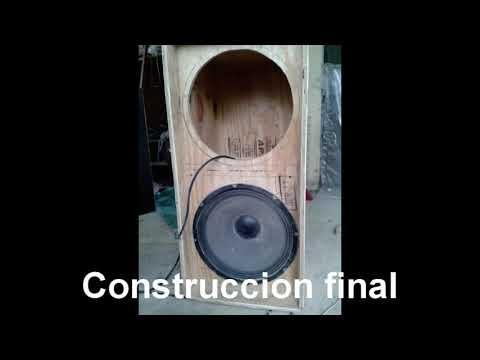 Construccion de bafle 2 x18 o Line array planos