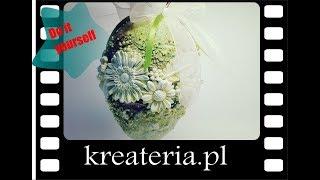 Jak zrobić dekorację wielkanocną - Jajo mixed media - KreaCraftShow81