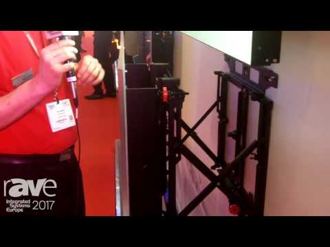 ISE 2017: Peerless-AV Europe Shows Off DS-VW775-QR Quick Release Video Wall Mount