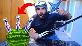 I Bought The STRANGEST Naruto WEAPONS On Amazon!! *MYSTERY BOX*