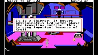Space Quest Walkthrough with Commentary - Original EGA Version Sierra Game Presentation