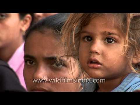 Cute village girl in an Uttar Pradesh hamlet