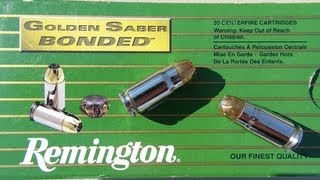 .357 SIG Remington Golden Saber Ammo Gel Test