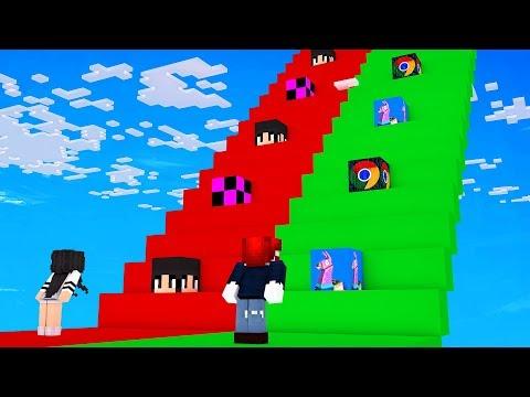 BENX TREPPE vs. HACKER TREPPE in Minecraft 😂