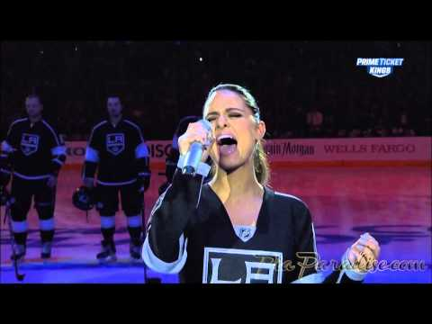 Pia Toscano sings The National Anthem - LA Kings vs San Jose Sharks - NHL Playoffs Game #3 - 4/22/14