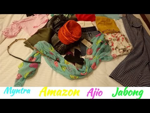 Haul from jabong#myntra#ajio#amazon