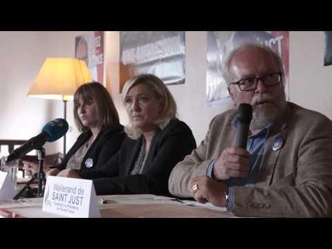 Conférence de presse de Marine Le Pen et Wallerand de Saint Just, le 14/09/15 à Etréchy