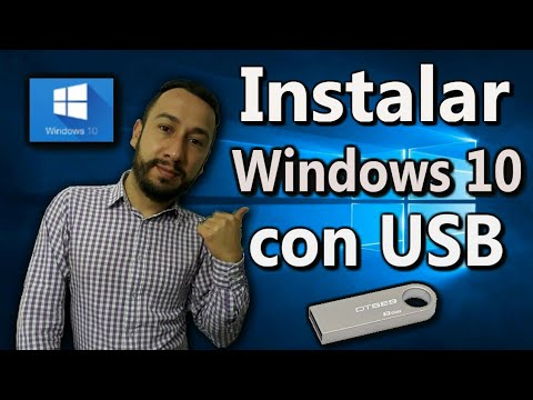 DESCARGAR e Instalar  WINDOWS 10 desde cero con USB 💻📆 (2018)