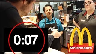 How fast can you get KICKED OUT of McDonald's... (Challenge)