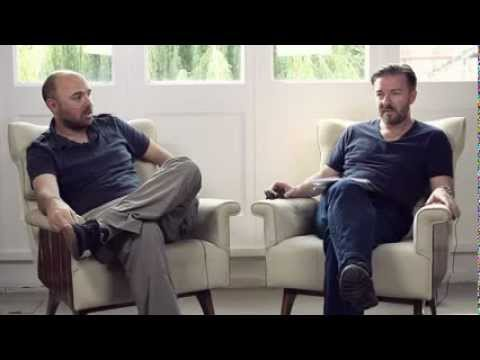 KARL PILKINGTON AND RICKY GERVAIS INTERVIEW 2012 - VERY FUNNY!