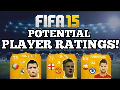 FIFA 15 ULTIMATE TEAM POTENTIAL PLAYER RATINGS!! MAN UNITED LUKE SHAW, RONALDO + CHELSEA FABREGAS!!