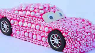 Pink lighting MC Queen car toys for children to play by copy everyone