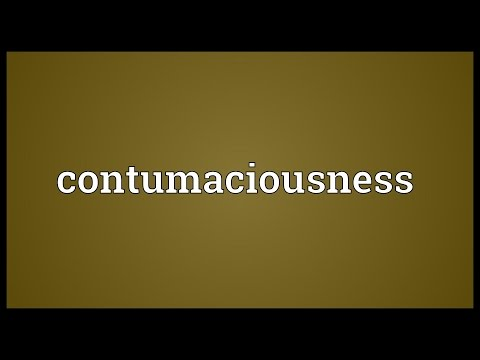 Header of contumaciousness