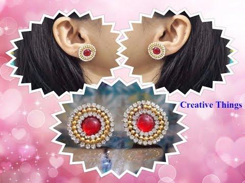 Stud Earrings || Making of Earring studs || Easy Steps || Creative Things