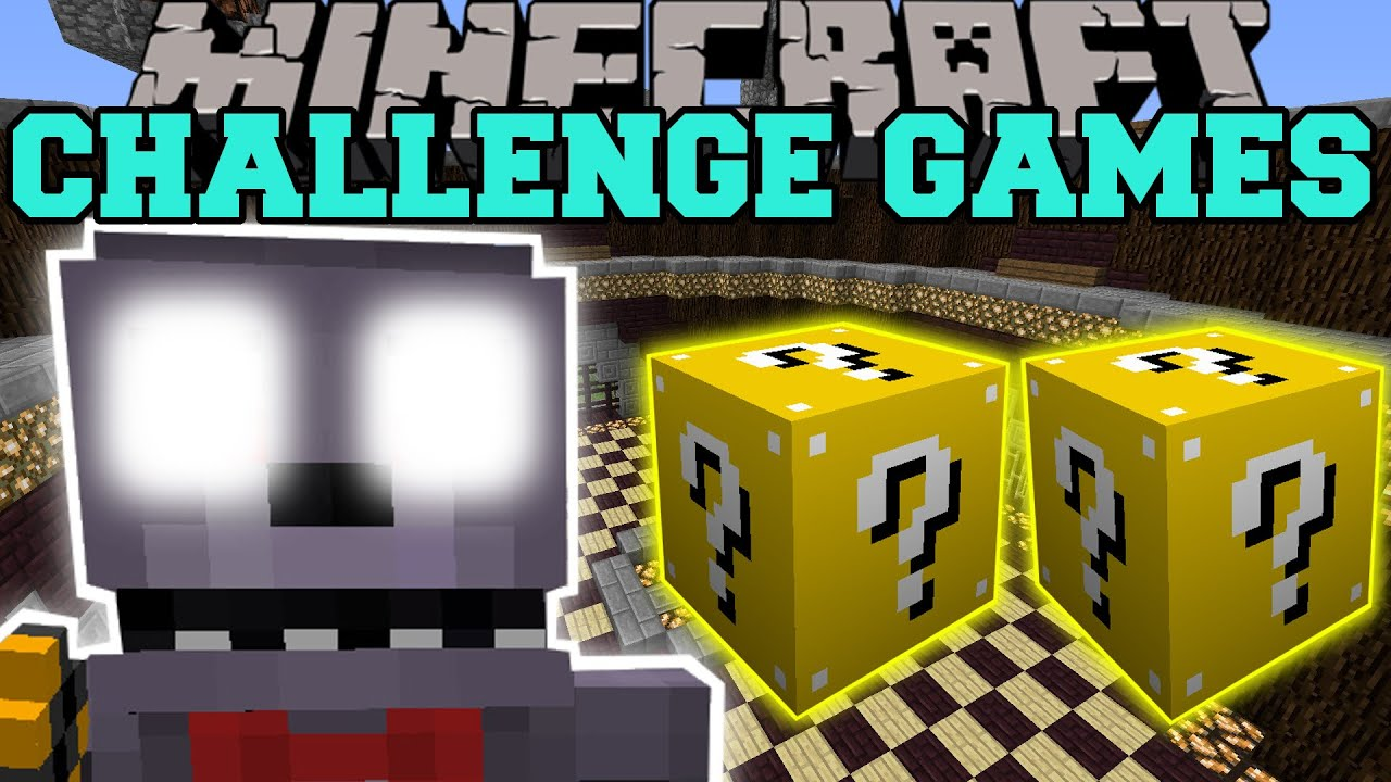 Challenge games minecraft youtube minecraft pat and jen lucky block