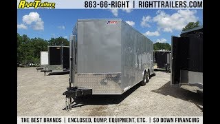 8.5x20 Pace American Enclosed Trailer [Silver]
