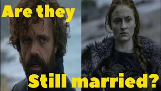 Are Sansa and Tyrion still married?